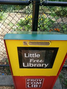 little free library at Sessions Street park