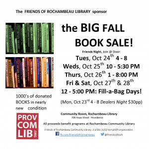 2017 Book Sale Starts Oct 23