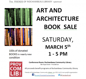 art + architecture sale, march 5th, 1 - 5 pm