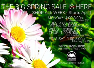 Big Spring sale Apr 1 - 6