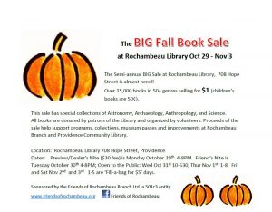 Long Copy for Big Fall Book Sale 2018